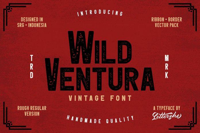 Wild Ventura Vintage Font