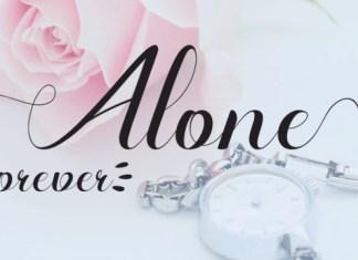 Alone Forever Font Family