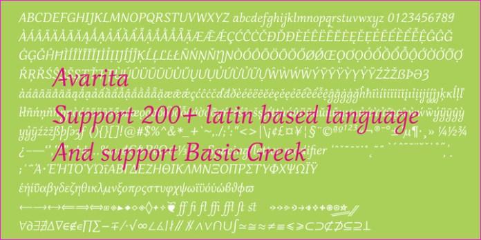 Avarita Font Family