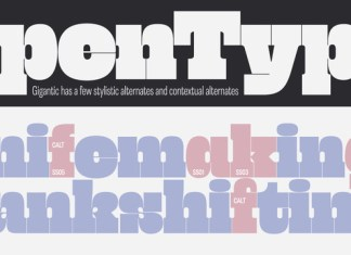 Gigantic Font
