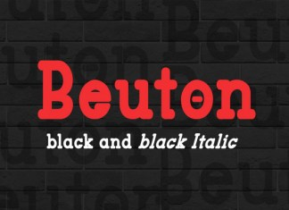 Beuton Black Regular Font