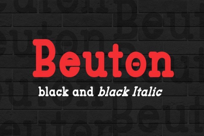 Beuton Black Regular Font