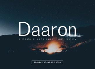 Daaron Family Font