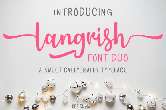 Langrish Duo Font