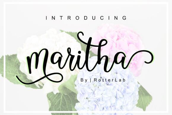 Maritha Script Font
