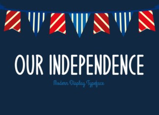Our Independence font