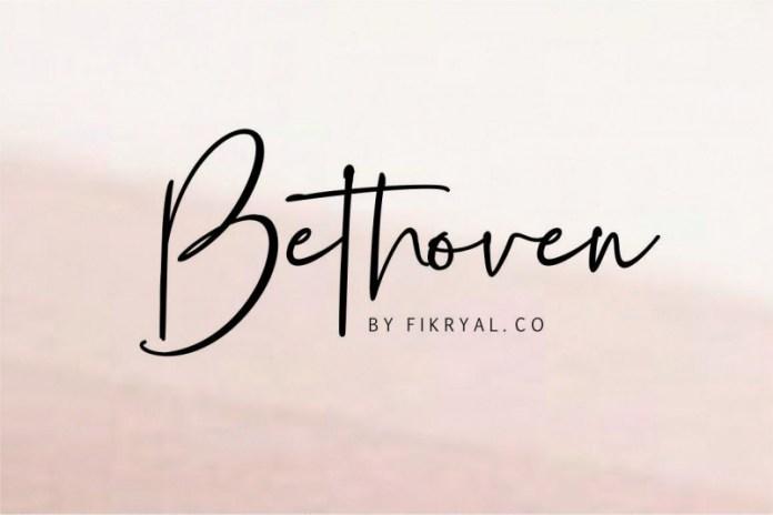 Bethoven Script Font