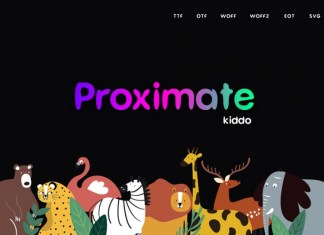 Proximate Kiddo - Display Font