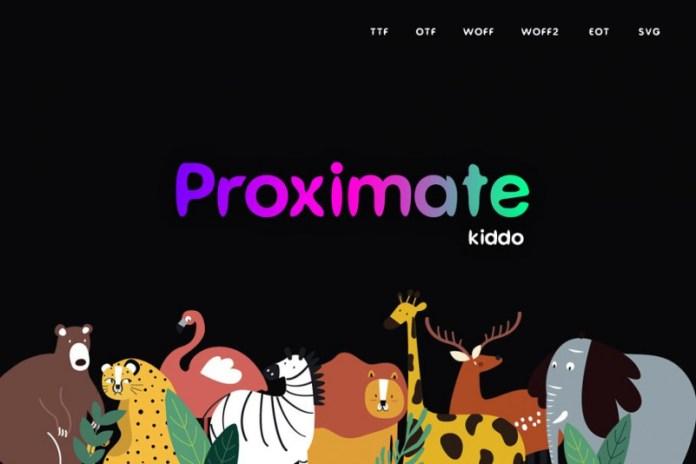 Proximate Kiddo - Display Font