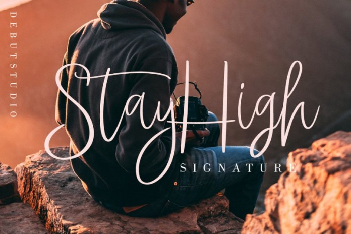 StayHigh Signature Font