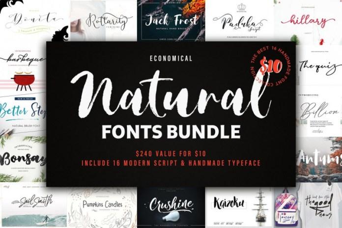 New! Natural Font Bundles.