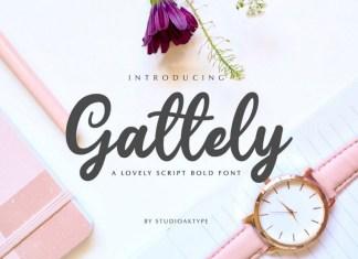 GattelyScript Font