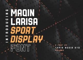 Maqin Larisa Display Logo Font