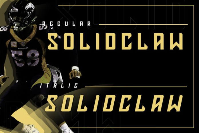 Solidclaw Display font
