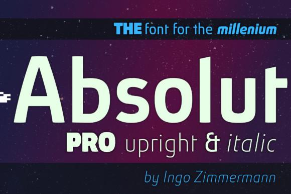 Absolut Pro Upright & Italic font