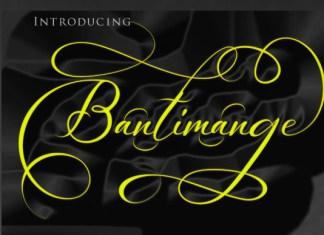 Bantimange Font