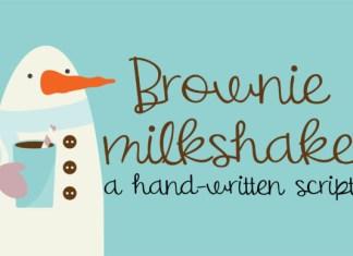 Brownie Milkshake Font