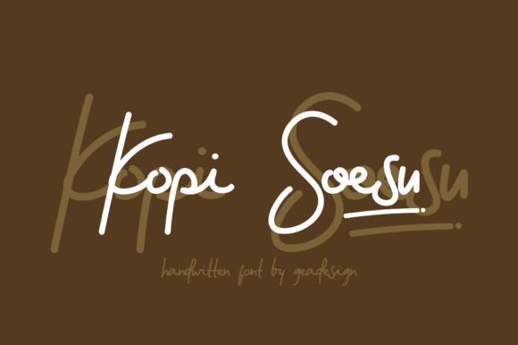 Kopi Soesu Font