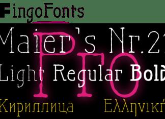 Maiers Nr. 21 Pro Font
