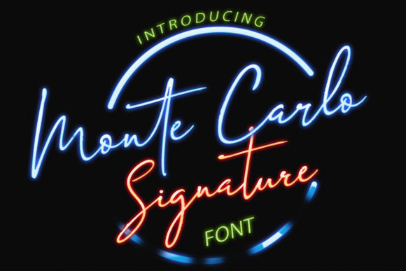 Monte Carlo Font