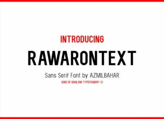Rawarontext Font