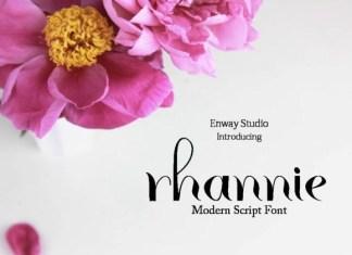 Rhannie Script Font