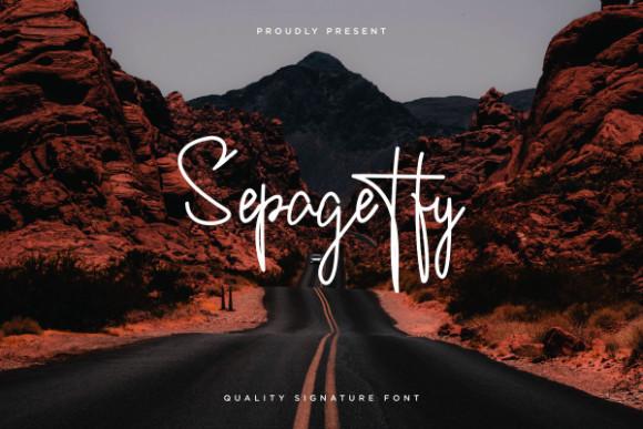 Sepagetty Font