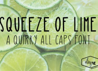 Squeeze of Lime font