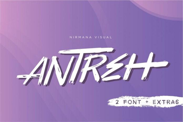 Antreh Brush Font + Extra