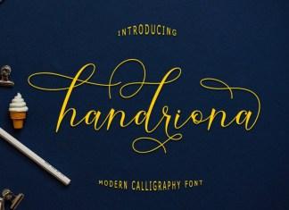 Handriona Script Font