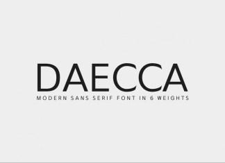 Daecca Sans Serif Font Family