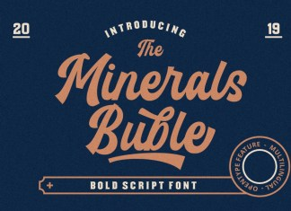 Minerals Buble Bold Font