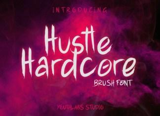 Hustle Hardcore - Brush Font