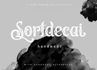 Sortdecai Handmade Font