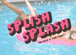 Splish Splash! | Playful Sans Serif