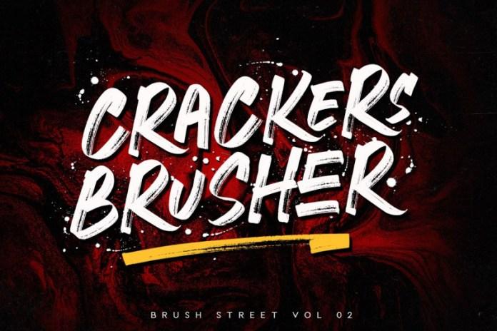 Crackers Brusher - Brush Street Font