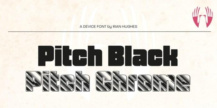 Pitch Font Family Font
