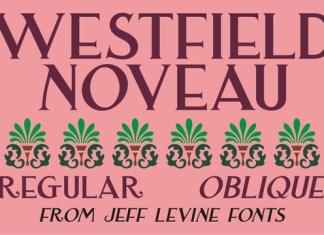 Westfield Nouveau JNL Font Family