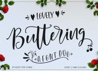 Lovely Buttering Font