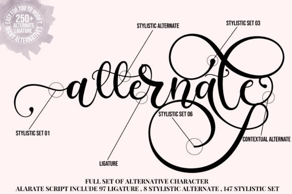 Alarate Script Font