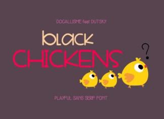 Black Chickens Font