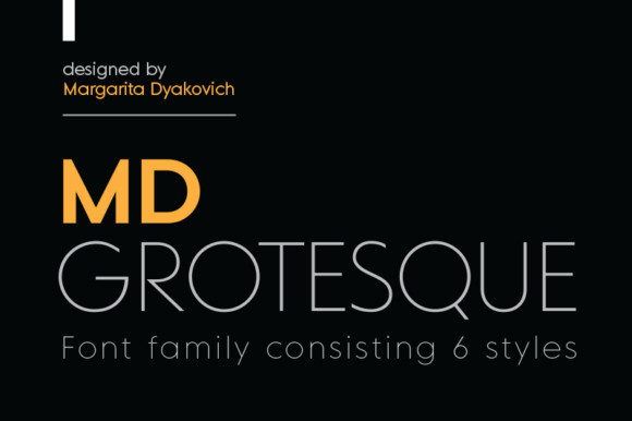MD Grotesque Font