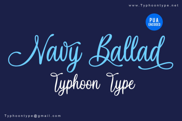 Navy Ballad font