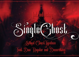 Single Ghost Font