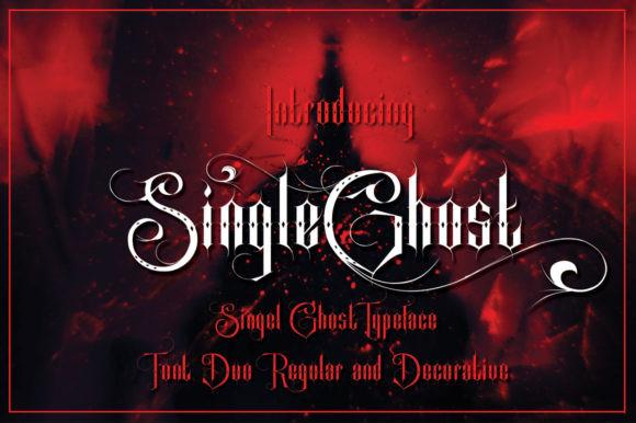 Single Ghost Font