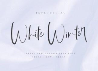 White WInter Font