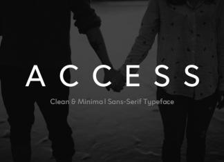 ACCESS - Modern Typeface  Font