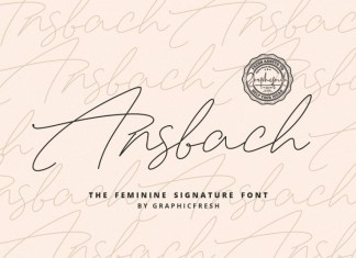 Ansbach | The Feminine Signature Font