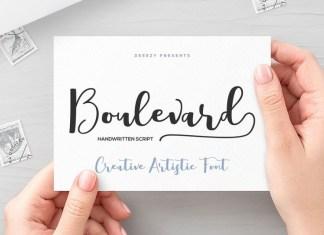 Boulevard Script Font