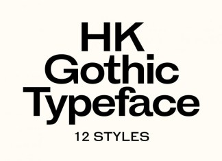 HK Gothic Font